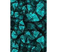 Fractal art black and turquoise Photographic Print