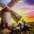 Don Quixote's Windmill Adventure by Dominica Alcantara
