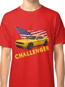 Challenger with American Flag Classic T-Shirt