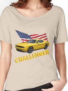 Challenger with American Flag Women's Relaxed Fit T-Shirt
