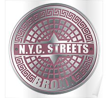 Manhole Covers Bronx Pink Poster