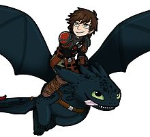 Hiccup + Toothless sticker by SoloAzume