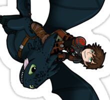 Hiccup + Toothless sticker Sticker