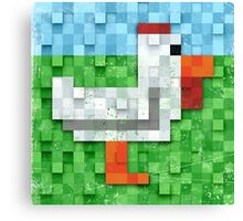 Pixel Chicken Canvas Print