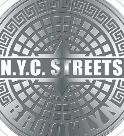 Manhole Covers Brooklyn Gray Sticker