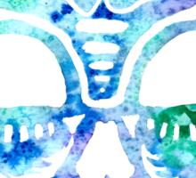 Watercolor Skull - Day of the Dead - Dia de los Muertos Sticker