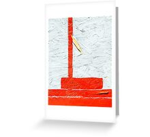 Orange & White Abstract Greeting Card
