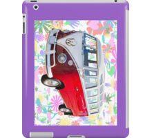 VW 21 window Mini Bus And Hippie Background iPad Case/Skin