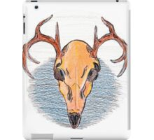 Colored Pencil Deer Skull  iPad Case/Skin