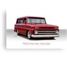 1965 Chevrolet 'Custom' Suburban Canvas Print