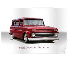 1965 Chevrolet 'Custom' Suburban Poster