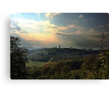View from Chase Hill towards Eastnor, England Canvas Print
