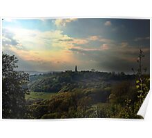 View from Chase Hill towards Eastnor, England Poster