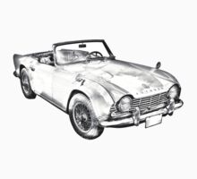 Illustration Of Triumph Tr4 Sports Car Baby Tee