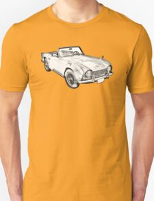 Illustration Of Triumph Tr4 Sports Car T-Shirt