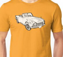 Illustration Of Triumph Tr4 Sports Car Unisex T-Shirt