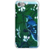 Bluejay in the Apple Tree iPhone Case/Skin