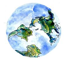 Hand Drawn Earth Photographic Print