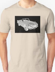 Black And White Triumph Tr4  Sports Car T-Shirt