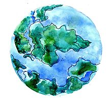 Hand Drawn Earth 2 Photographic Print