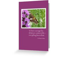 Courage Butterfly on Wildflower Greeting Card