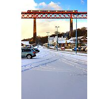 Queensferry Promenade in the snow Photographic Print