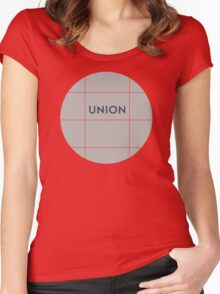 UNION Subway Station Women's Fitted Scoop T-Shirt