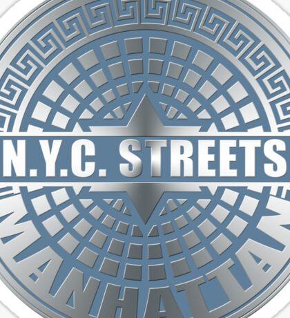 Manhole Covers Manhattan Blue Sticker