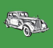 Packard Luxury Antique Car Illustration Baby Tee