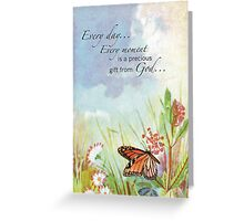 Precious Gift from God, Butterfly, Wildflowers Greeting Card