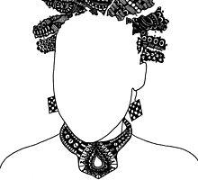 Pen & Ink  Drawing Bantu Knots by tonijconroy