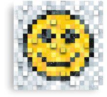 Pixel Smiley Canvas Print