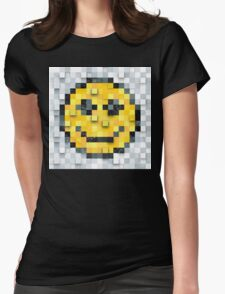 Pixel Smiley Womens Fitted T-Shirt