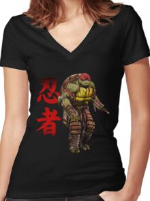 Red Power Women's Fitted V-Neck T-Shirt