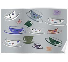 Polkadotty Cups and Saucers Poster