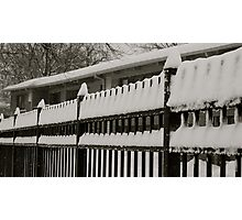 Snow on the fence 2 Photographic Print