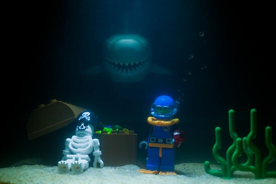 Sunken Lego treasure by Kevin  Poulton - aka &#x27;Sad Old Biker&#x27;