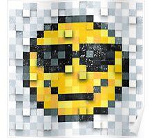 Pixel Smiley 2 Poster