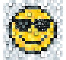 Pixel Smiley 2 Photographic Print