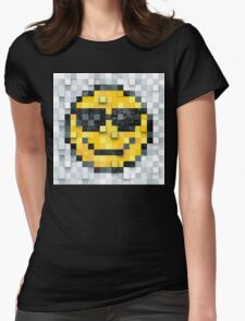 Pixel Smiley 2 Womens Fitted T-Shirt