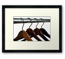 Wooden Hangers Framed Print