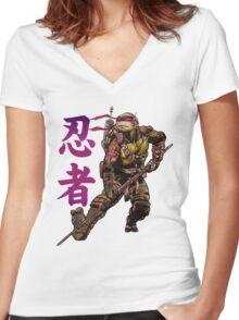 Ninjutsu TMNT Women's Fitted V-Neck T-Shirt