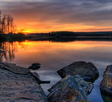 Sunset on Chambers Lake by Michael Mill