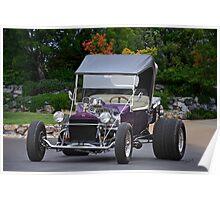 1927 Ford 'Purple Rain' Roadster Poster