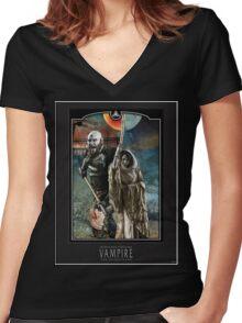 Salubri - Black Women's Fitted V-Neck T-Shirt