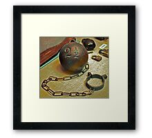 Ball & Chain Framed Print