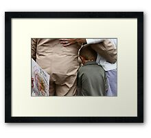 the welcome home crunch Framed Print