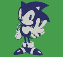 Minimalist Sonic One Piece - Short Sleeve