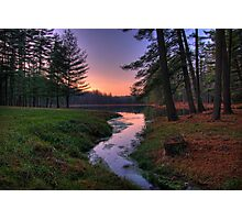 Remote Forest Lake Sunset Photographic Print