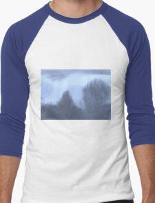 Winter Skyline- Blue Haze Men's Baseball ¾ T-Shirt
